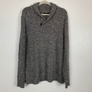 Banana Republic Heather Knit Shawl Collar Sweater